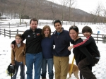 Sachi and Matt Rochlin, with their children Madison and RJ, and Susan Kail and her husband Paul in Vermont,2007.